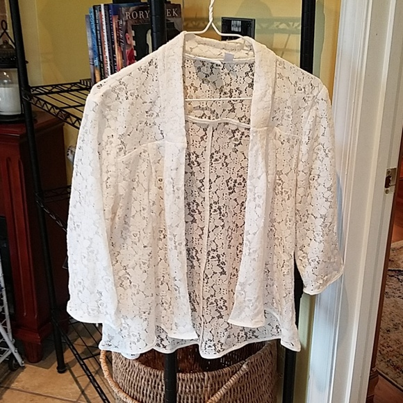 New York & Company Sweaters - Lace top new york & co